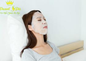 Massage, tẩy tế bào chết + đắp mặt nạ, dưỡng lotion (massage, exfoliating, masking algae mask adva