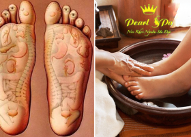 Massage chân + ngân chân thảo dược + chà gót chân (Foot massage + herbal feet  + rub the heel)