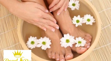 Massge chân bằng thảo dược